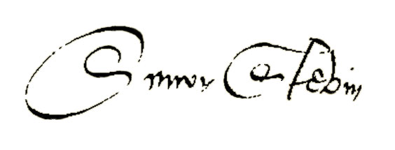 signature of Simon Stevin